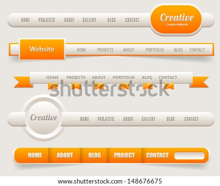 Vector Header Web Menu Design