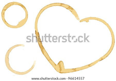 Vector heart from coffee drops - stock vector