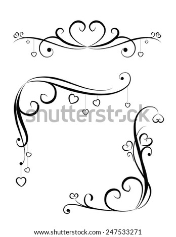 vector heart ornaments stock vector royalty free 247533271