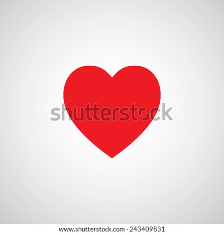 vector heart shape symbol design    - stock vector
