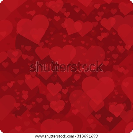 Vector hearts background.