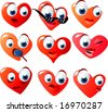 vector hearts set - stock vector