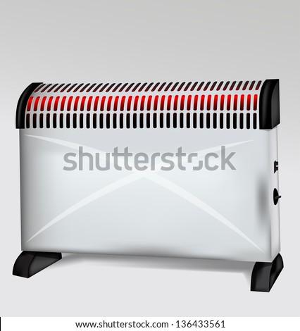 Vector Heater - stock vector