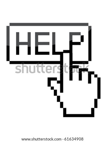 "Vector ""help"" sign - stock vector"