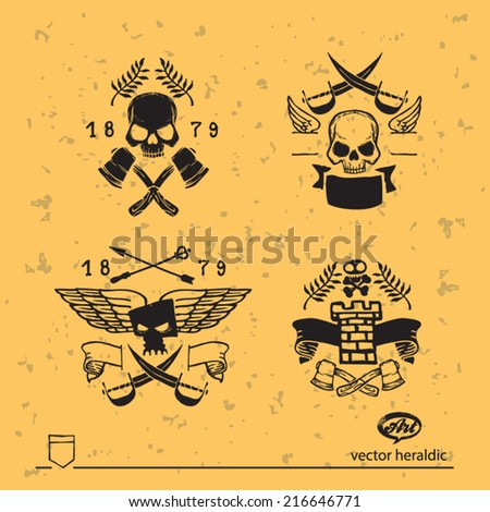 vector heraldic coat of arms - stock vector