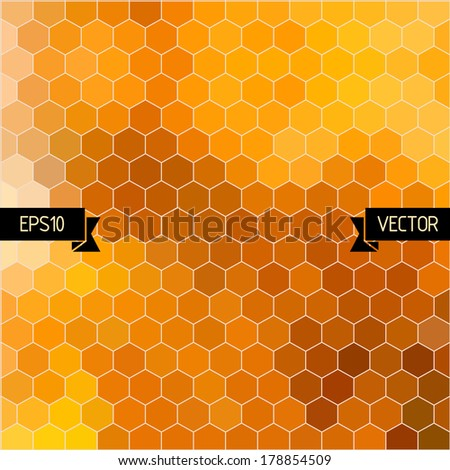 Vector hexagons background. Geometric pattern. Graphic or website layout. Abstract vector with colorful hexagonal honey combs - stock vector