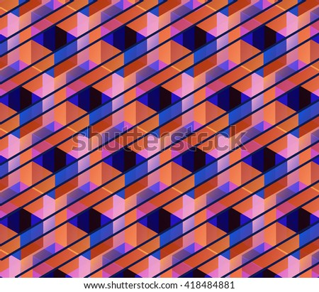 Vector hexagons background. Geometric pattern. Retro geometric hexagon backdrop. Polygonal unusual comb texture. Textured design elements. Eps10 - stock vector