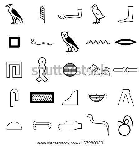 how to write in hieroglyphics alphabets