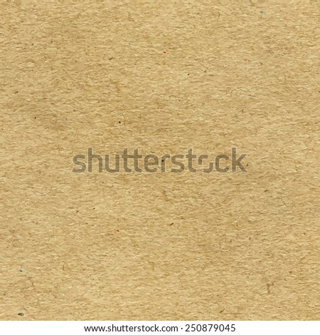 Vector High-Resolution Blank Craft Recycled Paper Texture - stock vector