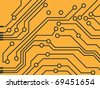 vector high technology background. computer circuit board - stock vector