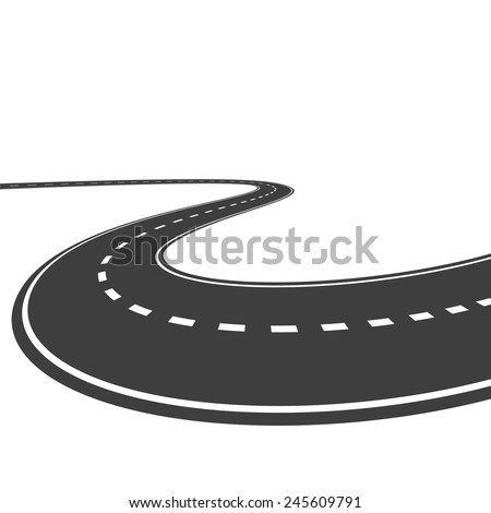 Vector highway isolated on a white background - stock vector