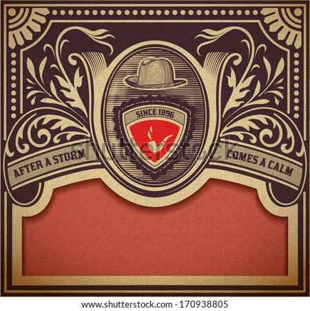 Vector. Hipster retro card. Organized by layers - stock vector
