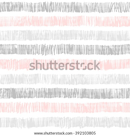 Vector hipster striped seamless pattern. Abstract hand drawn background texture. Stylish doodles. Modern graphic design. Good for wrapping paper, fabric design and scrapbook.