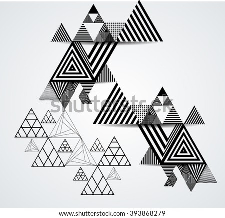 Vector Hipster Triangle Background .  - stock vector