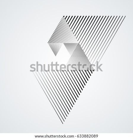 Vector Hipster Triangle Background . poster with different elements. Abstract Geometrical Poster. Modern Design Template with geometric shapes in various forms.illustration.