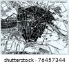 Vector Historical map of Berlin, Germany, from atlas published in 1851. Other vector maps in my portfolio. - stock photo