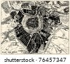 Vector Historical map of Wien, Austria, from atlas published in 1851. Other vector maps in my portfolio. - stock vector