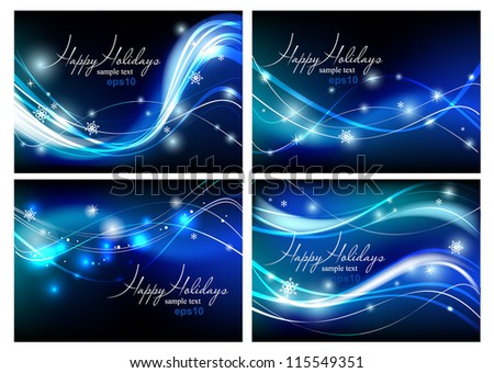 Vector holiday backgrounds, eps 10 - stock vector
