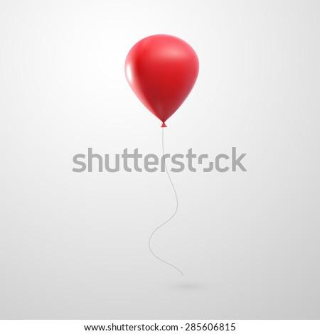 vector holiday illustration of flying realistic glossy balloon - stock vector