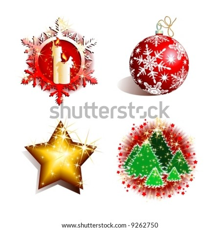 Vector holiday set - stock vector