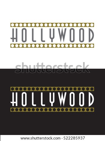 Vector Hollywood Sign Stock Photo Illustration