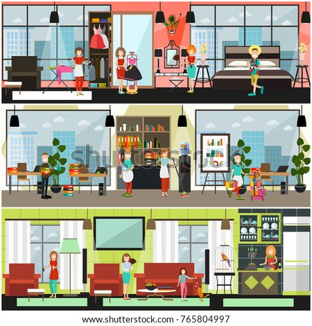 Vector Home Office Cleaning Services Poster Stock Vector 765804997    Shutterstock