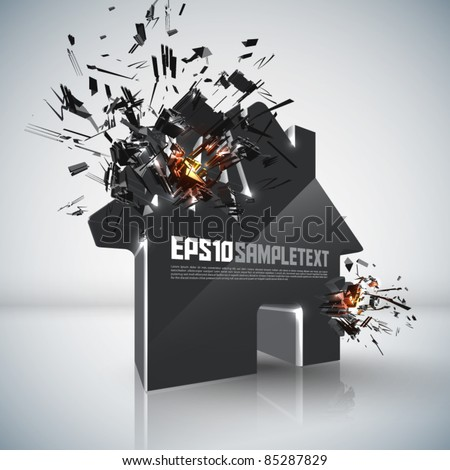 Vector Home Crushing - stock vector