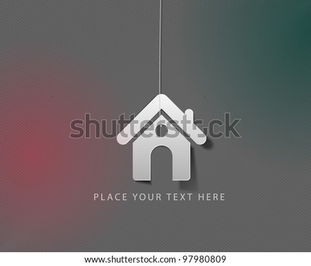 vector home icon design element. - stock vector