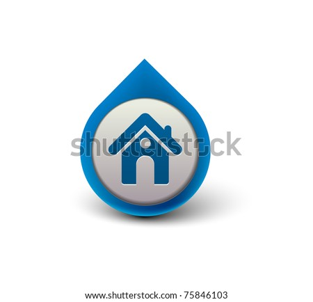 vector home icon design with isolated on white. - stock vector