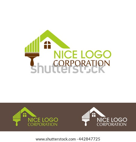 Vector Home Nature. Eco House Vector. Eco green house concept signs and iconsVector Home Nature.  Eco green house concept signs and icons.It is possible to use for your website or logo.