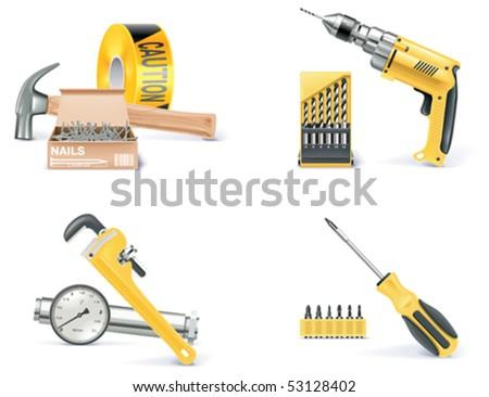 Vector Homebuilding & Renovating icon set. Part 1 - stock vector