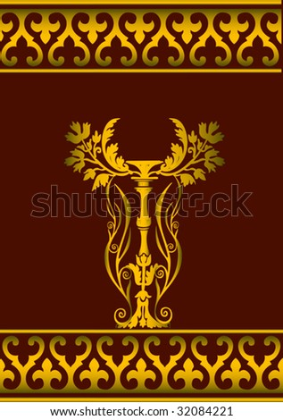 Vector honour and glory related illustration - stock vector