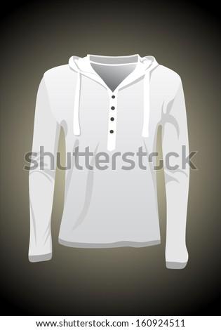 Vector. Hooded sweatshirt - stock vector