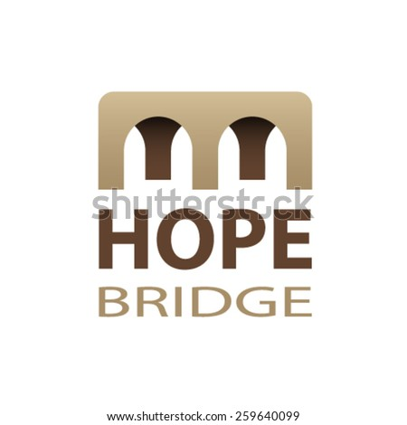 vector hope bridge abstract icon - stock vector