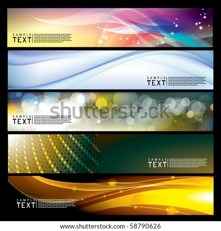 Vector Horizontal Banner - stock vector
