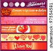 vector horizontal banner valentine themes - stock vector