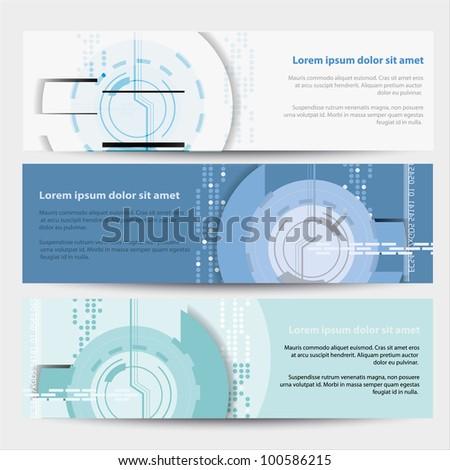 Vector Horizontal Technical Banner - stock vector