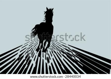 Vector horse. Background - stock vector
