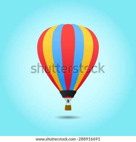 Vector Hot Air Balloon - stock vector