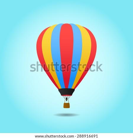 Vector Hot Air Balloon - stock vector
