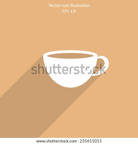 Vector hot drink cup web icon. Eps 10 illustration.