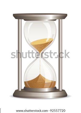 Vector hourglass isolated on white background - stock vector