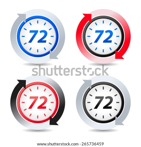 Vector 72 hours - stock vector