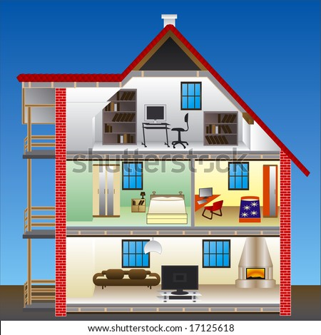 vector house - stock vector