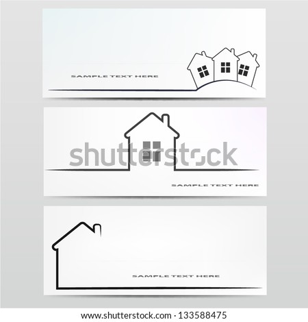 Vector house icon. - stock vector