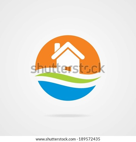 vector house Icon for company isolated, identity - stock vector
