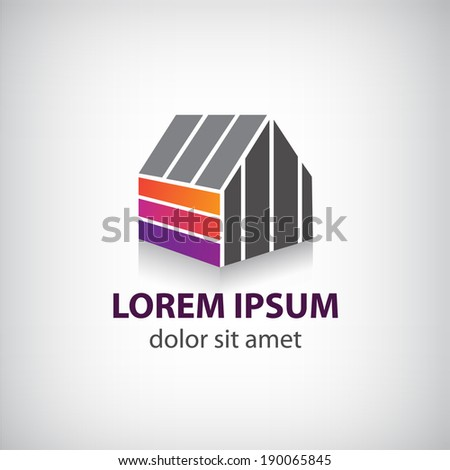 vector house icon, logo for company  - stock vector