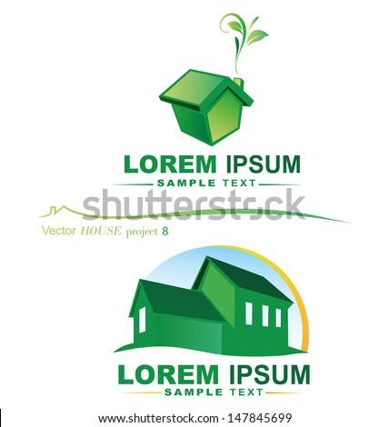 vector house project - stock vector