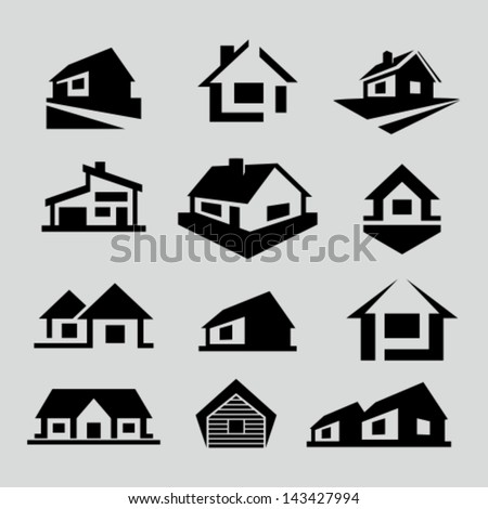 vector house silhouette icons stock photo photo vector rh shutterstock com haunted house silhouette vector haunted house silhouette vector