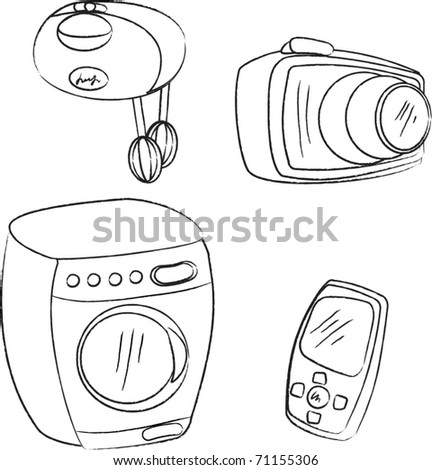 Washer And Dryer Free Coloring Pages Sketch Coloring Page